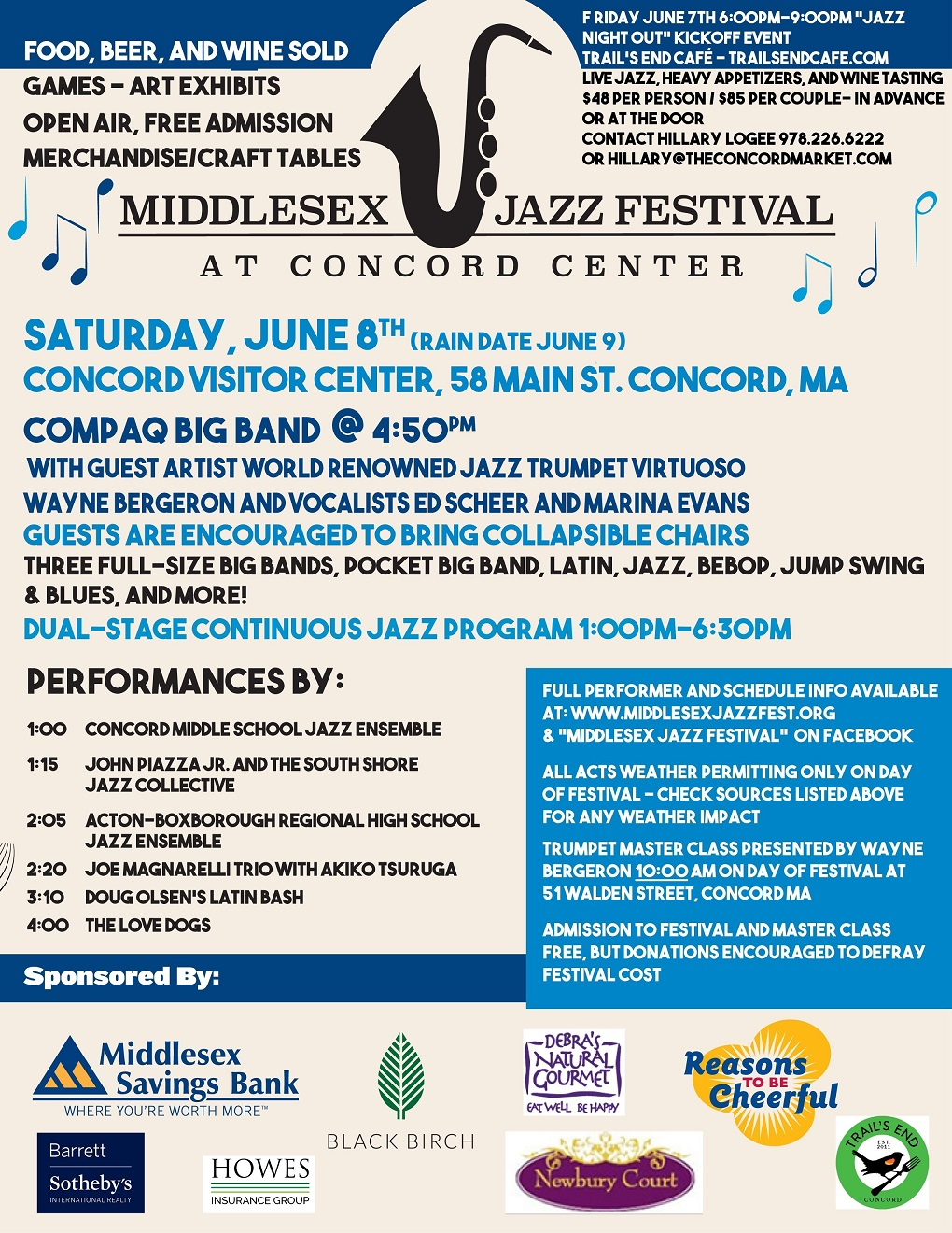 Middlesex Jazz Festival poster